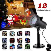12 Pattern Motion Christmas Landscape Lights Projector LED Spotlight Waterproof