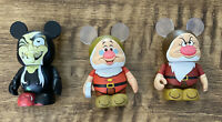 "Disney Vinylmation set ~ 3"" Snow White & 7 Dwarfs Witch Grumpy Doc"