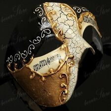 Phantom of the Opera Musical Venetian Masquerade Mask for Men [Gold/Black]