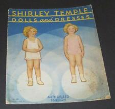 SHIRLEY TEMPLE 1934 SHIRLEY TEMPLE DOLLS & DRESSES PAPER DOLL BOOKLET     UNCUT