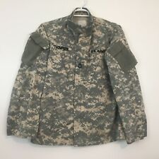ACU US Military Army Shirt Size M Long Combat Jacket Sewing Patch Digital Camo