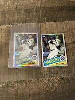 2020 Topps Chrome Kyle Lewis Rc 1985 Refractor 85TC-22 Rookie Mariners lot x2