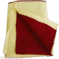 """Jewelry Polishing / Buffing Cloth 12""""x 12"""" Dual Layer Antiques Gold Silver"""