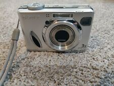 Sony Cyber-shot DSC-W7 7.2MP Digital Camera Used Silver Tested & Works