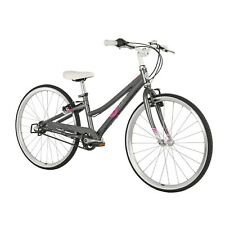 ByK E-540 3i Kids Geared Bike Girls Charcoal Neon Pink Bicycle Aged 7-11 Years