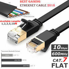 Rj45 Cat 7 Ethernet Flat Cable SSTP 10gbps Gigabit Network Patch PC Latptop 2m