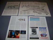VINTAGE.GRUMMAN E-2C HAWKEYE..HISTORY/CUTAWAY/3-VIEWS...RARE! (86F)