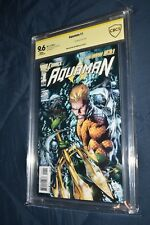Aquaman #1 CBCS SS 9.6 1st Print signed by Joe Prado Justice League New 52