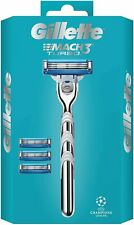 Gillette Mach 3 Turbo Razor With 4 Blades - Gift Set
