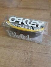 Oakley Blades Black Yellow Rare Collector Vintage Display Box Limited No Bob...