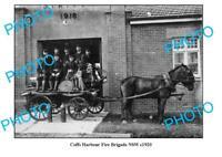 OLD 8x6 PHOTO COFFS HARBOUR FIRE BRIGADE c1920 NSW