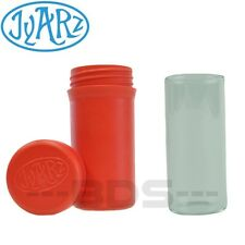 Red Jyarz Storage Container Glass Eco Friendly BPA Free USA Made Herb Jar