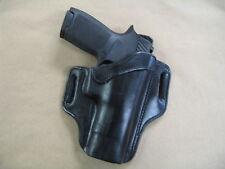 "Springfield XD Mod2, XDM, XD 5""-5.5"" OWB Leather 2 Slot Pancake Belt Holster BLK"
