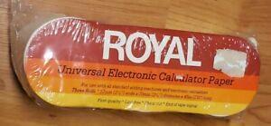 Vtg Royal Universal Electronic Calculator Paper 3-rolls 57mm x 70mm New Sealed