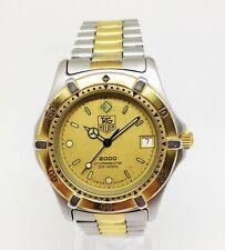 Men's Full-Size TAG HEUER 2000 Diver Quartz Watch. 38mm Gold Dial. Date WR 200M
