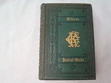The Poetical Works of John Milton  c.1860  Leather Binding  illus