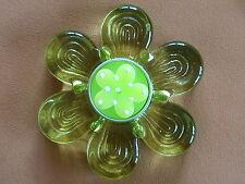 Glas Teelichthalter Blume groß, grün, ca. 11,5 cm