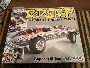 "MPC ""Rod Shop"" 63 Corvette Stingray large 1/16 scale VERY RARE!"