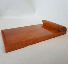 Carvacraft Notepad Clip. Bright Amber Bakelite. Excellent Condition. 1930's