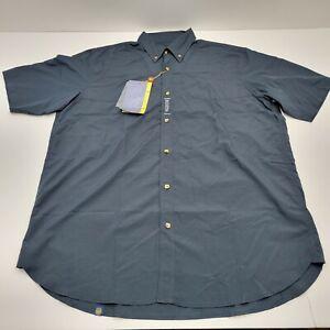 Beretta Men's XL Navy V-Tech Short Sleeve Button Down Shooting Shirt LT10 NWT