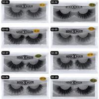 NEW 100%NEW 3D Mink False Eyelashes Wispy Cross Long Thick Soft Fake Eye Lashes