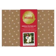 Simply Make Christmas Dog Needle Felting Craft Kit -  Christmas Xmas Decoration