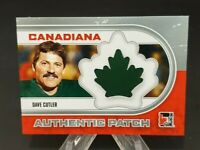 2011 In The Game Canadiana Authentic Patch Silver #AP-02 Dave Cutler /30