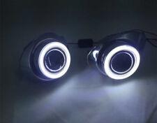For Ford Focus 2011-2012 Clear Fog Lights Kit+COB Angel Eye Bumper Cover Lens k
