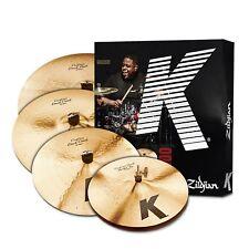 "Zildjian K Custom Dark Cymbal set - 14''hh,16''+18' 'Crash, 20"" Ride"