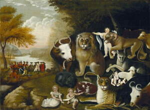 Edward Hicks Peaceable kingdom Giclee Art Paper Print Poster Reproduction