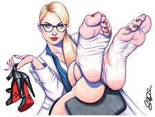 DR HARLEEN QUINZEL Harley Quinn 12x9 Pin-Up Print Scott Blair