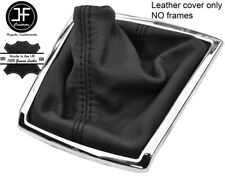 BLACK STITCH TOP GRAIN LEATHER GEAR GAITER FITS TOYOTA COROLLA VERSO 2004-2009