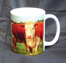 Cow Mug Hereford Cows And Calfs Ceramic Gift Mug For People Who Love Cattle