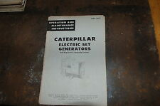 CAT Caterpillar Electric Set Generator Owner Operator Maintenance Manual book