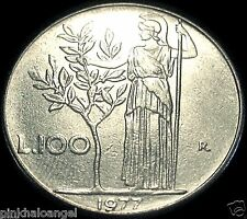 Republic of Italy  Italian 100 Lire Coin  Olive Tree Coin