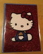 Papyrus Glittery Hello Kitty Blank Message Card