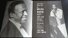 MILES DAVIES ORIGINAL UK TOUR PROGRAMME 24TH SEPTEMBER 1960 HAMMERSMITH UK