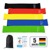 Cinturini per esercizi per fitness con elastico di resistenza in gomma da 5pezzi