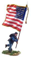 W. Britain - Civil War Union Color Sergeant with Flag Charging No. 1 31046 ACW