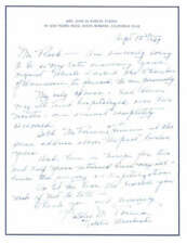 Natalie Moorhead D.1992 Actress The Big Chance Signed Letter