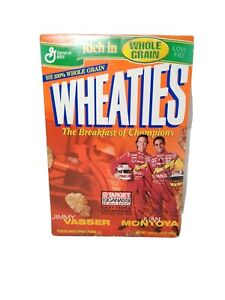 Wheaties Cereal Box Autographed by Juan Montoya with Jimmy Vasser