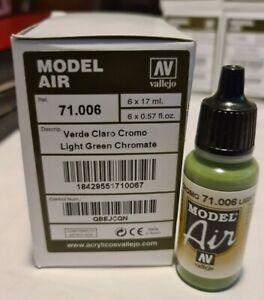 AV Vallejo Model Air Light Green Chromate 71006 17ml Bottle