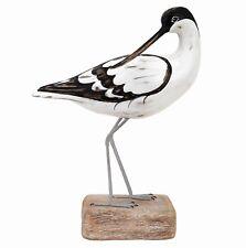 Archipelago Hand Carved Wooden Birds Avocet Preening 32cm High