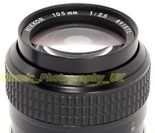NIKKOR 105mm 1:2.5 / 105mm F2.5 SHARP Nikon F Ai fit Lens for FILM & DIGITAL SLR