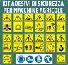 15 PITTOGRAMMI ADESIVI SEGNALE PERICOLO ISO 11684 MACCHINE AGRICOLE E FORESTALI