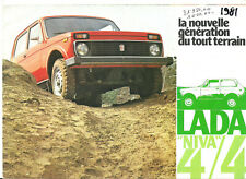LADA NIVA 1600 - VAZ 2121 - 1981 ? FRENCH / catalogue brochure prospekt dépliant