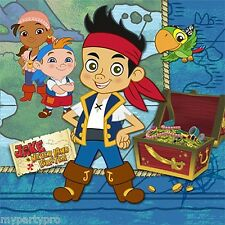 JAKE AND THE NEVER LAND PIRATES party supplies (BEVERAGE NAPKINS) FREE SHIPPING