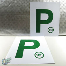 2x Magnetic Green P P2 Plate Provisional Legal Magnet Driver License, sell L too