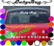 Ladybug windshield sun shade tint decal Any Car girl pink white VW Bug Brow USA