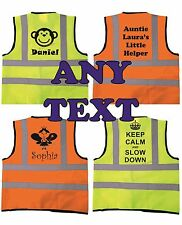 Personalised Children's High Visibility Safety Waistcoat Vest Kids Hi Vis Gift